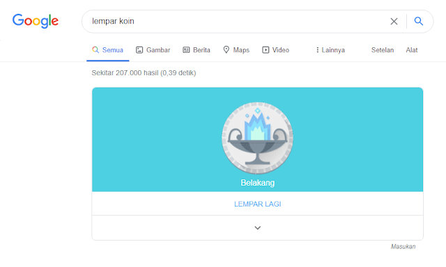 Melempar Koin Dengan Google Search