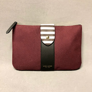 Henri Bendel Canvas & Leather Clutch
