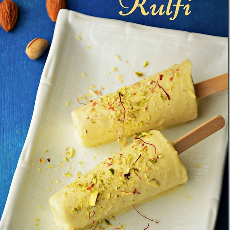 Kulfi / Malai Kulfi / Kesar Kulfi with nuts - with video
