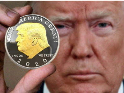 Trump 2020 gold silver plated coin