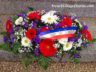 French Village Diaries  11th November floral tribute remembrance