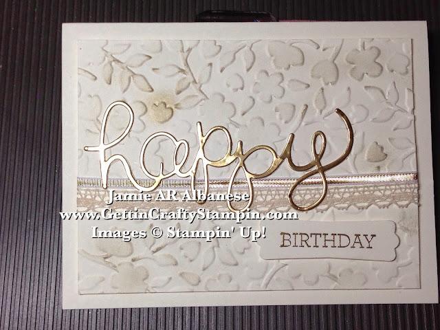 Getting Crafty with Jamie Elegant Spring Happy Birthday card