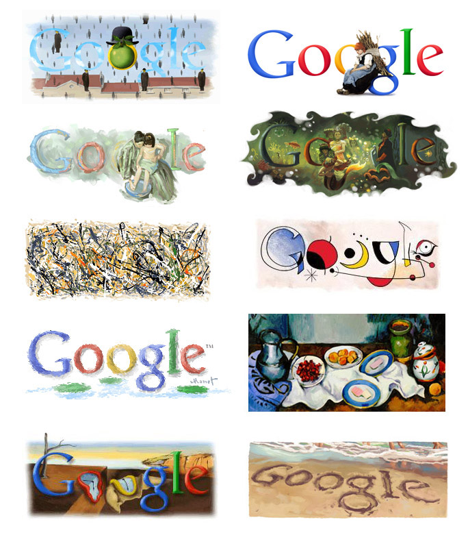 Doodle For Google: Leah Waichulis Fine Art: Google Doodles Inspired By Fine