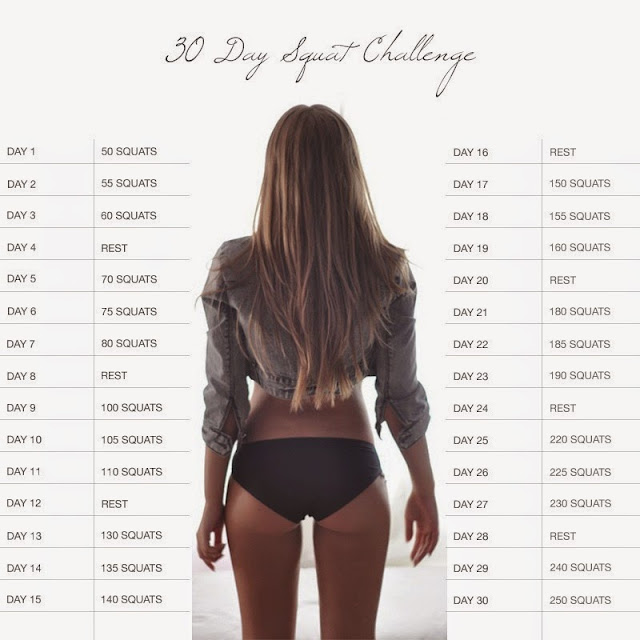 30 дней приседаний: техника, схема, рекомендации