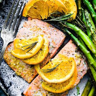 Rosemary Citrus One Pan Baked Salmon {Paleo}.
