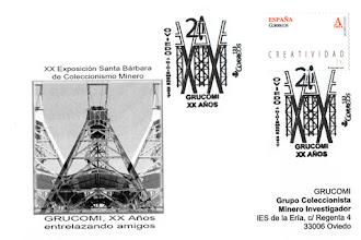 Photo: Tarjeta del matasellos del 20 aniversario de GRUCOMI