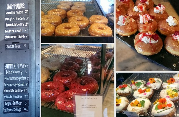 photo collage of different donuts