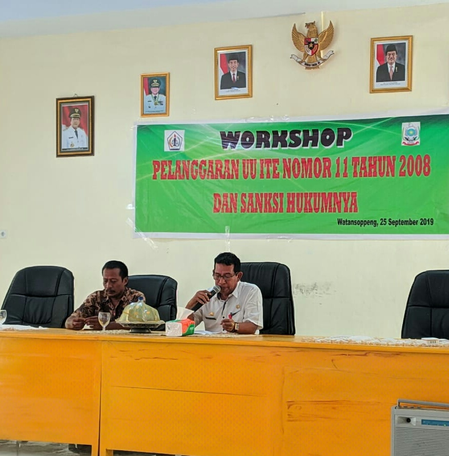 Sambutan Kadis Kominfo pada Penutupan Worshop Pelanggaran UU ITE No.11 Tahun 2008
