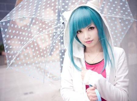 Cabelos coloridos - azuis