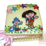 13. kép: Formatorták (lányoknak) - Kék majom torta