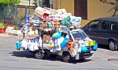 Fahrender Händler in Santa Flavia