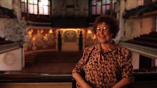 Carme Mechó durant l'entrevista amb Maria Pagès, 2013