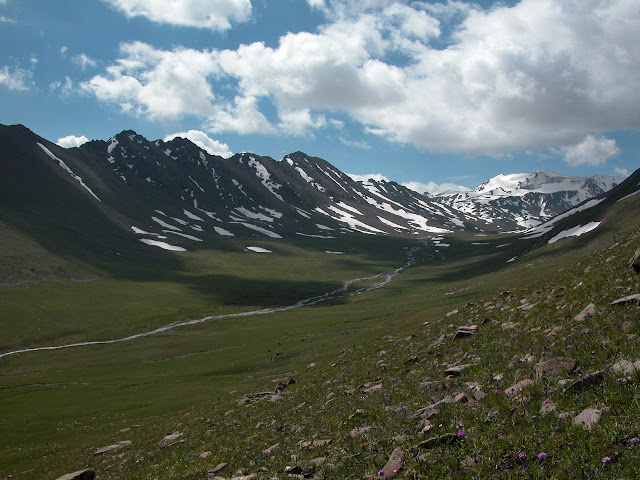Alabel Pass, 3300 m (Kyrgyzistan), 28 juin 2006. Photo : B. Lalanne-Cassou
