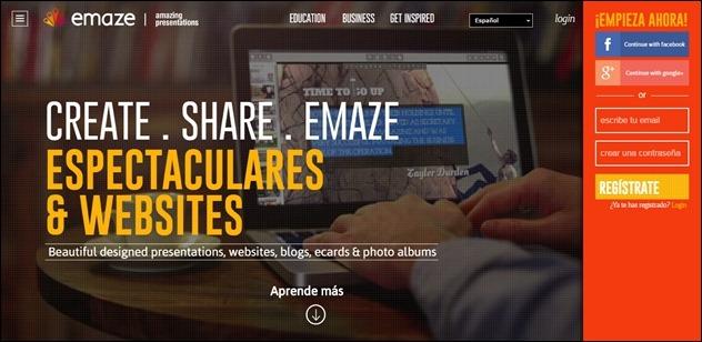 Como abrir mi cuenta Emaze - Iniciar sesión en Emaze