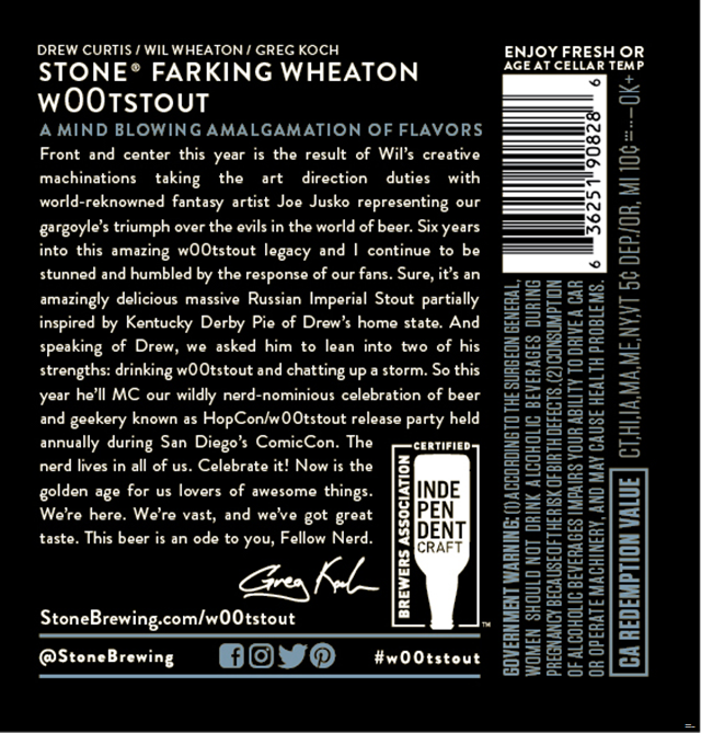 Stone wootstout Returns For 2018
