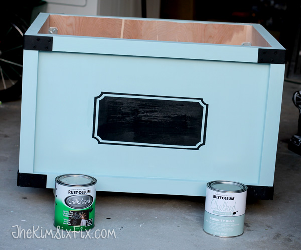Chalk board and chalky paint toybox