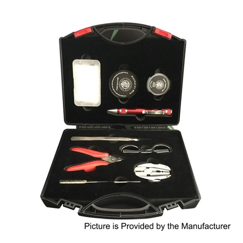 authentic thunderhead creations mundo compact diy tool kit for coil building black 9 pcs thumb%255B3%255D - 【海外】「Lost Vape Paranormal DNA75C」「AMPHISBAENA RDA」「Subohmcell Hellcatサブオームタンククリアロマイザー」「510マウントスピナー」ほか