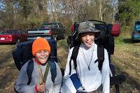 Heading into camp
