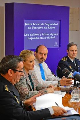 Disminuye la delincuencia el 1,6% en Torrejón de Ardoz en 2014
