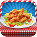 Chicken wings maker cooking icon
