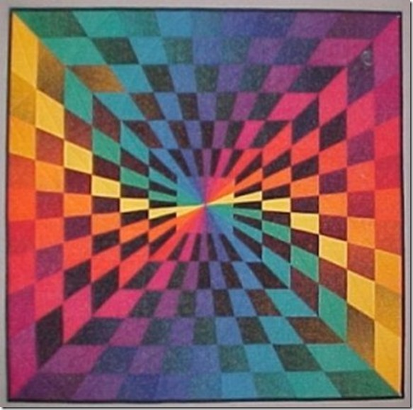 front Technicolor Vortex Quilt 1