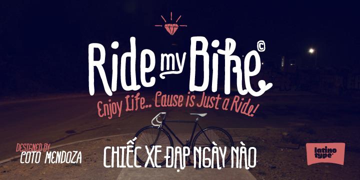Font Ridemybike Pro việt hóa dành cho thiết kế