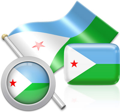 Djiboutian flag icons pictures collection