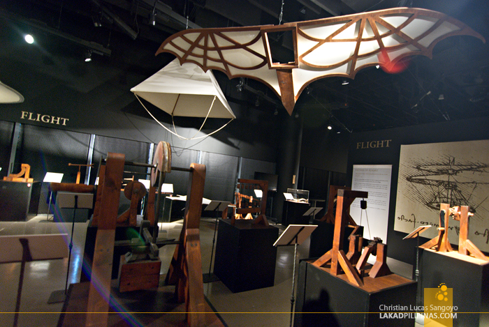 The Flight Gallery at The Mind Museum's Da Vinci The Genius Exhibit