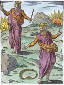Woodcut In Vincenzo Cartari Le Imagini De Gli Dei Padua 1608, Emblems Related To Alchemy