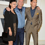 WWW.ENTSIMAGES.COM -    Leah Weller, Paul Weller and Nat Weller   arriving at    Real Stars Are Rare - launch party at Somerset House, Strand, London October 8th 2014Paul Weller launch  his 2014 menswear collection at 101 London, a space within Somerset House.                                                     Photo Mobis Photos/OIC 0203 174 1069