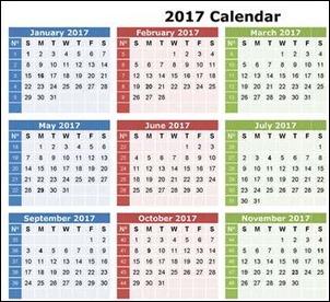 Топ 10 календарей 2017 на английском