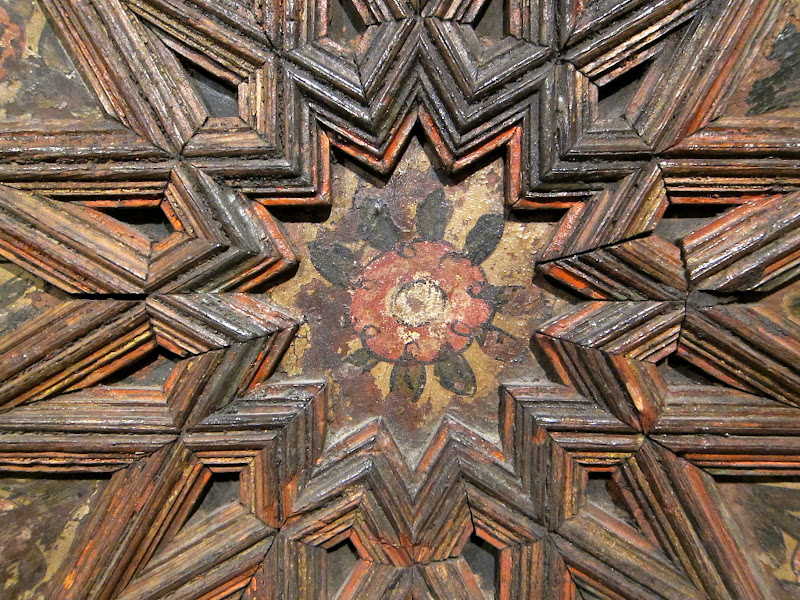 Wood panel with rose detail