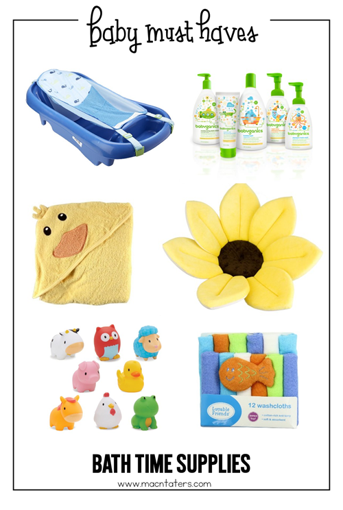Bath Time baby Must haves