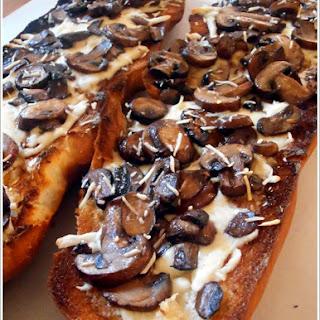 French Bread Mushroom Pizza