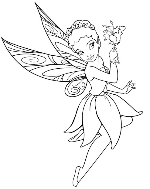 Fairy Coloring Sheets  Disney Characters Fairies  Iridessa  Coloring  Sheet