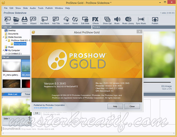 Photodex ProShow Gold 8