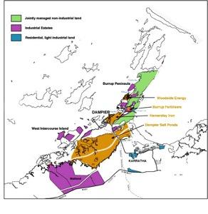 Burrup Industrial Map
