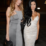 WWW.ENTSIMAGES.COM -  Demi Rose Mawby and Libby Smith   arriving at      We Still Kill The Old Way - private film screening at The Ham Yard Hotel, London September 29th 2014Private screening of forthcoming film about a group of former 1960s gangesters who come out of retirment to take on a group of youths after one of their number is murdered.                                                 Photo Mobis Photos/OIC 0203 174 1069
