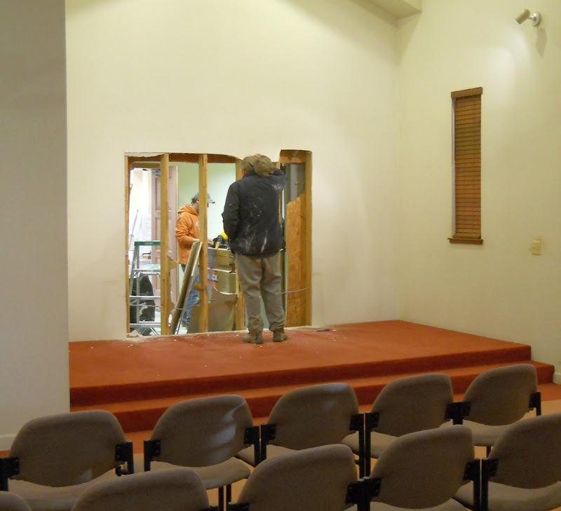 Cutting a doorway