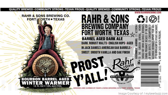 Rahr & Sons Bourbon Barrel-Aged Winter Warmer