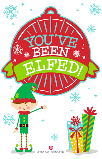 photograph regarding You Ve Been Elfed Printable identify Ginger Snap Crafts: 2016