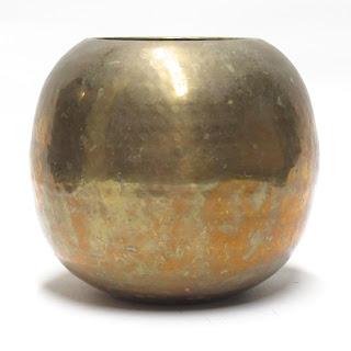 Brass Round Vase