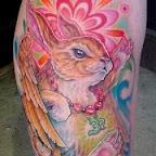 Rabbit angel - tattoos for men