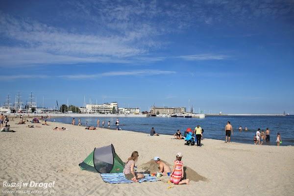 Plaża miejska w samym centrum Gdyni