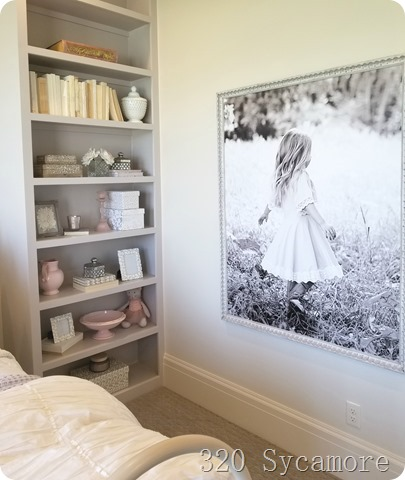 gray pink girls room