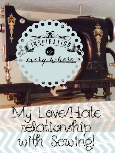 Antique sewing machine, love and hate sewing