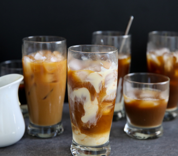 close-up of Cold Brew Vietnamese Iced Coffee