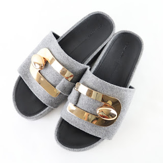 Stella Luna NEW Heather Grey Slides