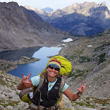 """This is what Shelli calls a """"photo love note."""" She often captures these """"I love to you"""" photos from the wilderness to share with family later. This love note was captured above Temple Lake, while leading her first-ever Epic Women expedition."""