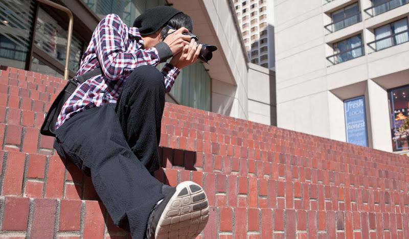 Black Seersucker Pants Shooting Photos